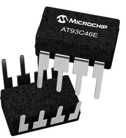 Microchip AT93C46E-PU, 1kbit EEPROM Memory 8-Pin PDIP Serial-3 Wire (25)