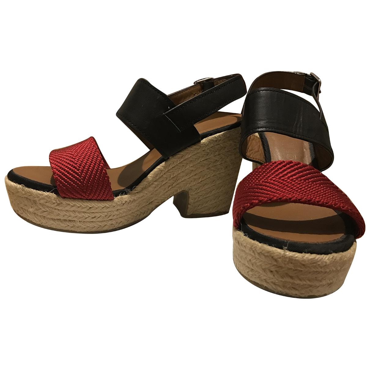 Bimba Y Lola - Sandales   pour femme en cuir - rouge