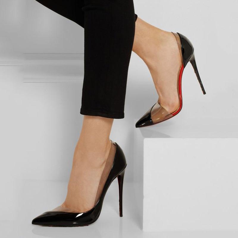 Ericdress Transparent Point Toe Stiletto Sandals