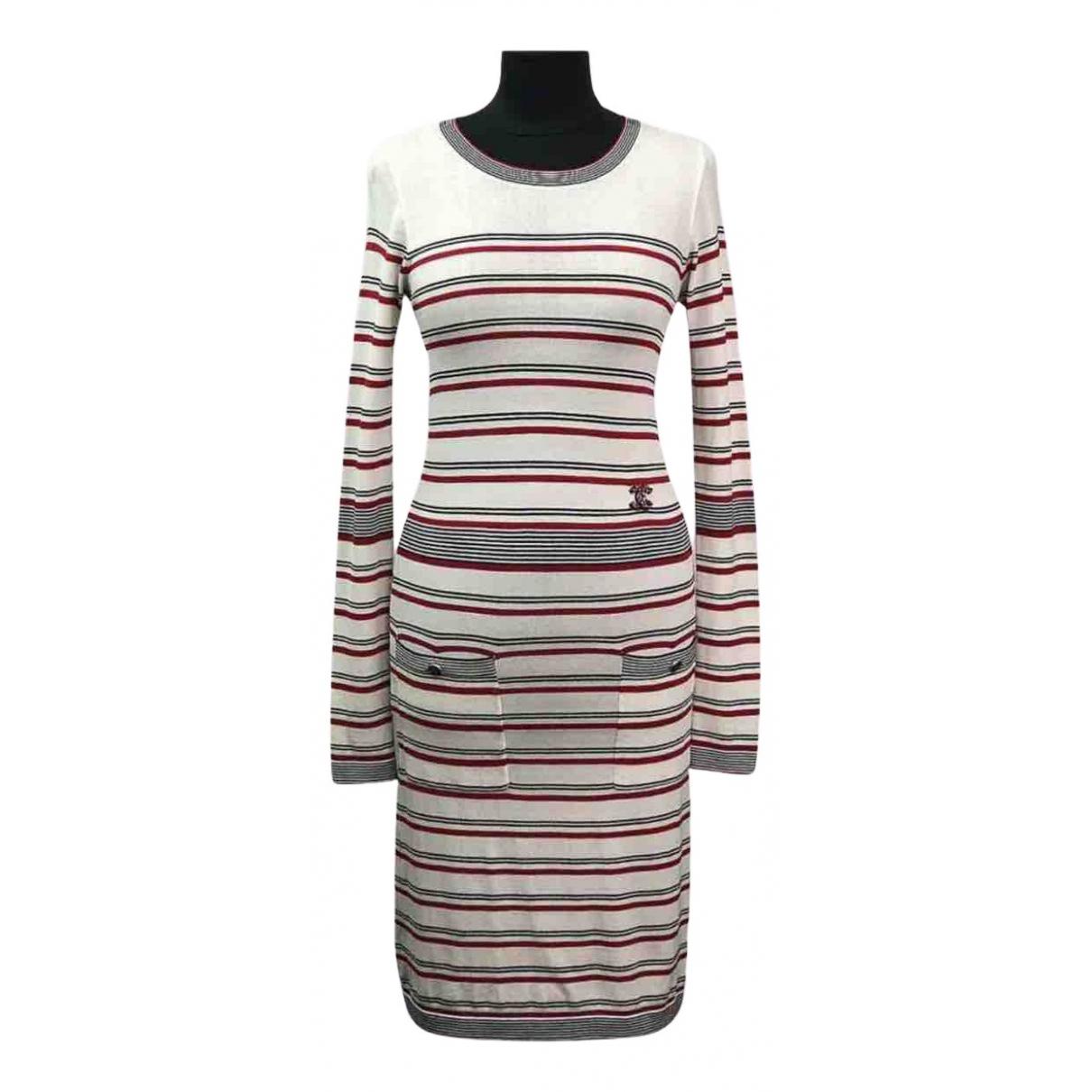 Chanel - Robe   pour femme en coton - blanc