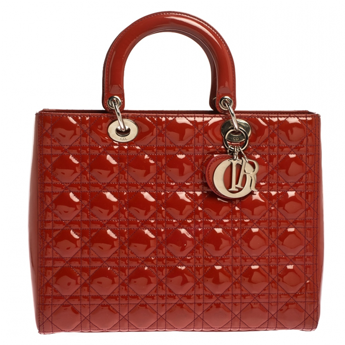 Dior Lady Dior Patent leather handbag for Women N