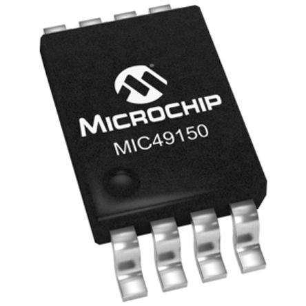 Microchip MIC49150YMM, LDO Regulator, 1.5A Adjustable, 0.9 → 5 V, ±1% 8-Pin, MSOP (2)