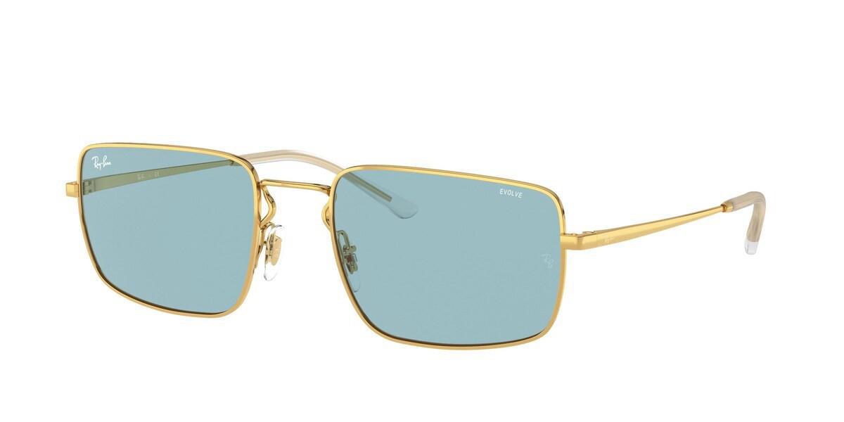 Ray-Ban RB3669 001/Q2 Men's Sunglasses Gold Size 55