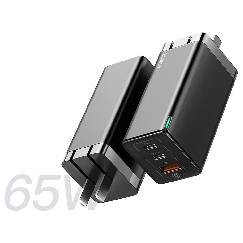 Baseus 65W GaN Fast Charger PD3.0 QC4.0 US Plug Black