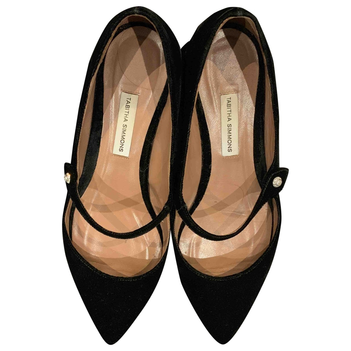 Tabitha Simmons \N Black Velvet Flats for Women 36 EU