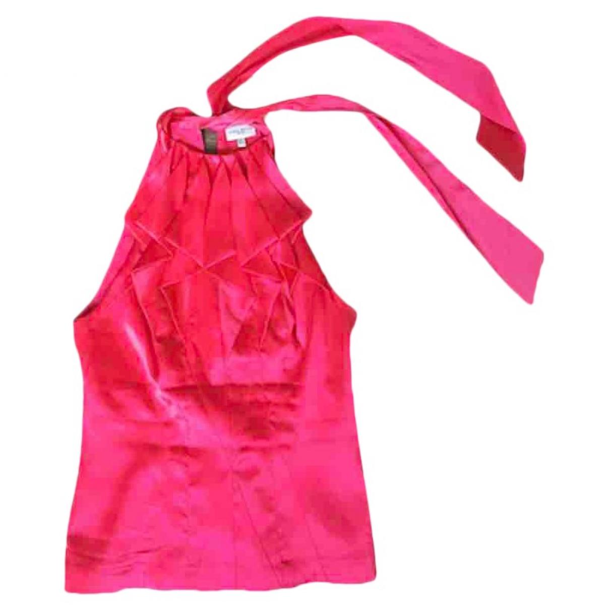 Karen Millen - Top   pour femme en soie - rouge