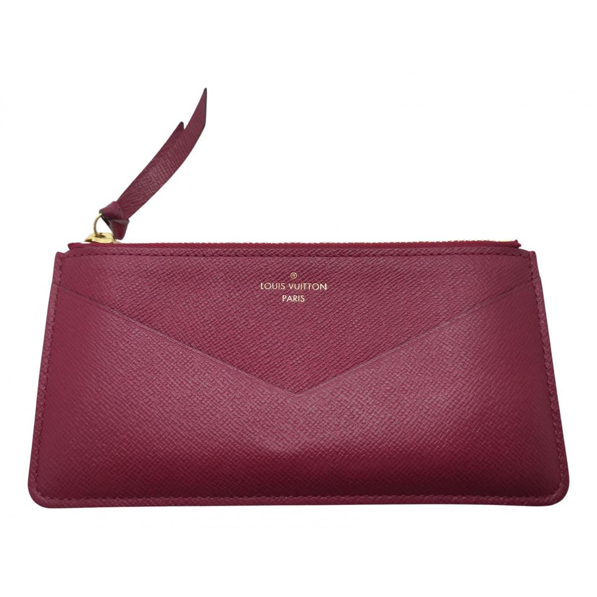 Louis Vuitton - Portefeuille Adele pour femme en cuir - rose