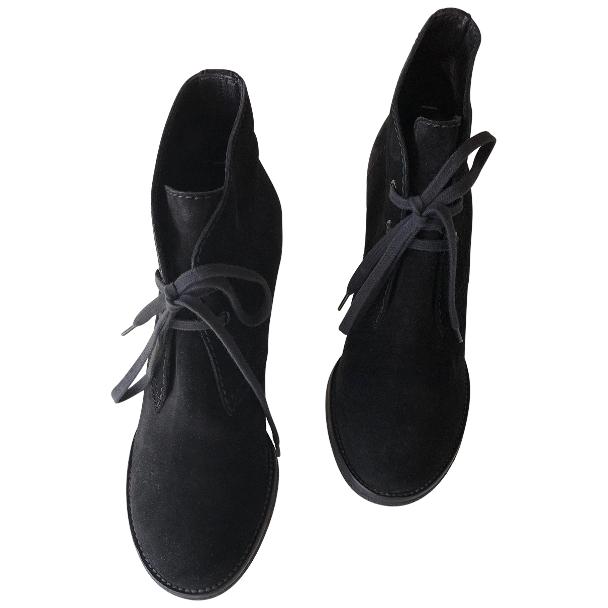 Veronique Branquinho - Boots   pour femme en suede - noir