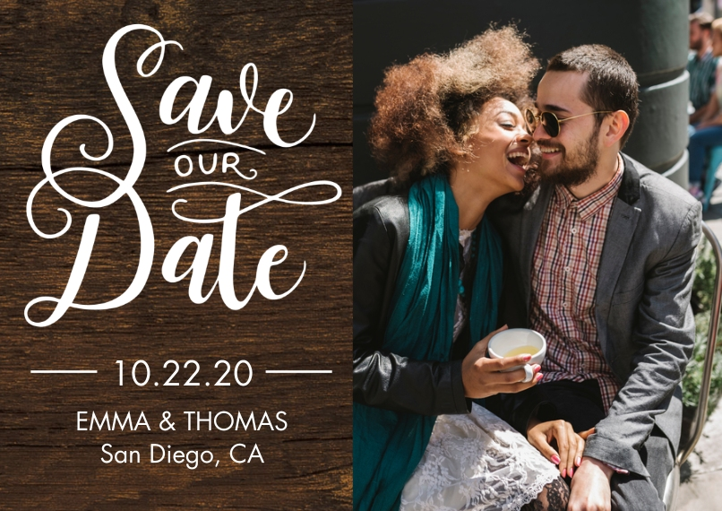 Save the Date 5x7 Cards, Premium Cardstock 120lb, Card & Stationery -Save our Date Romantic by Tumbalina