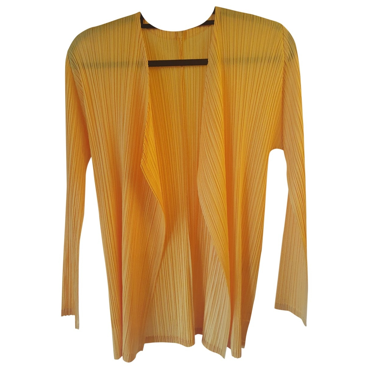 Pleats Please \N Pullover in  Gelb Polyester