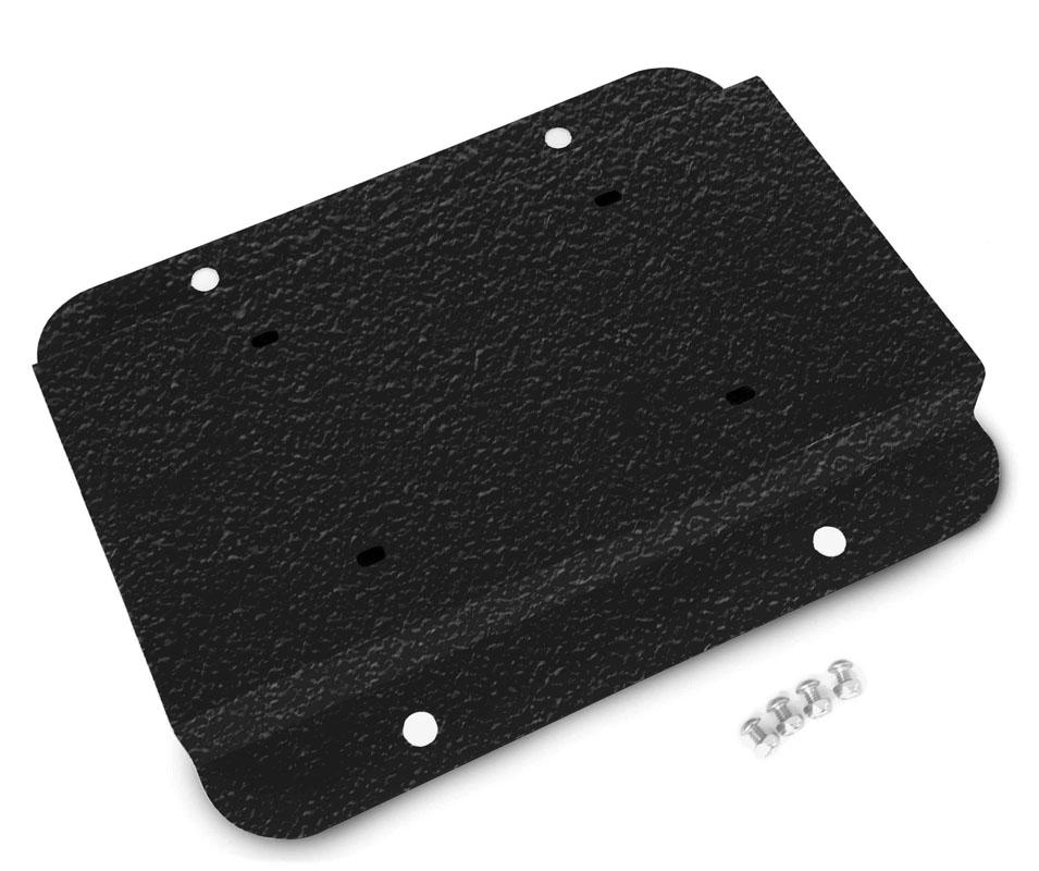 Steinjager J0049079 License Plate Relocation Kit Jeep Wrangler JK 07-18 Texturized Black