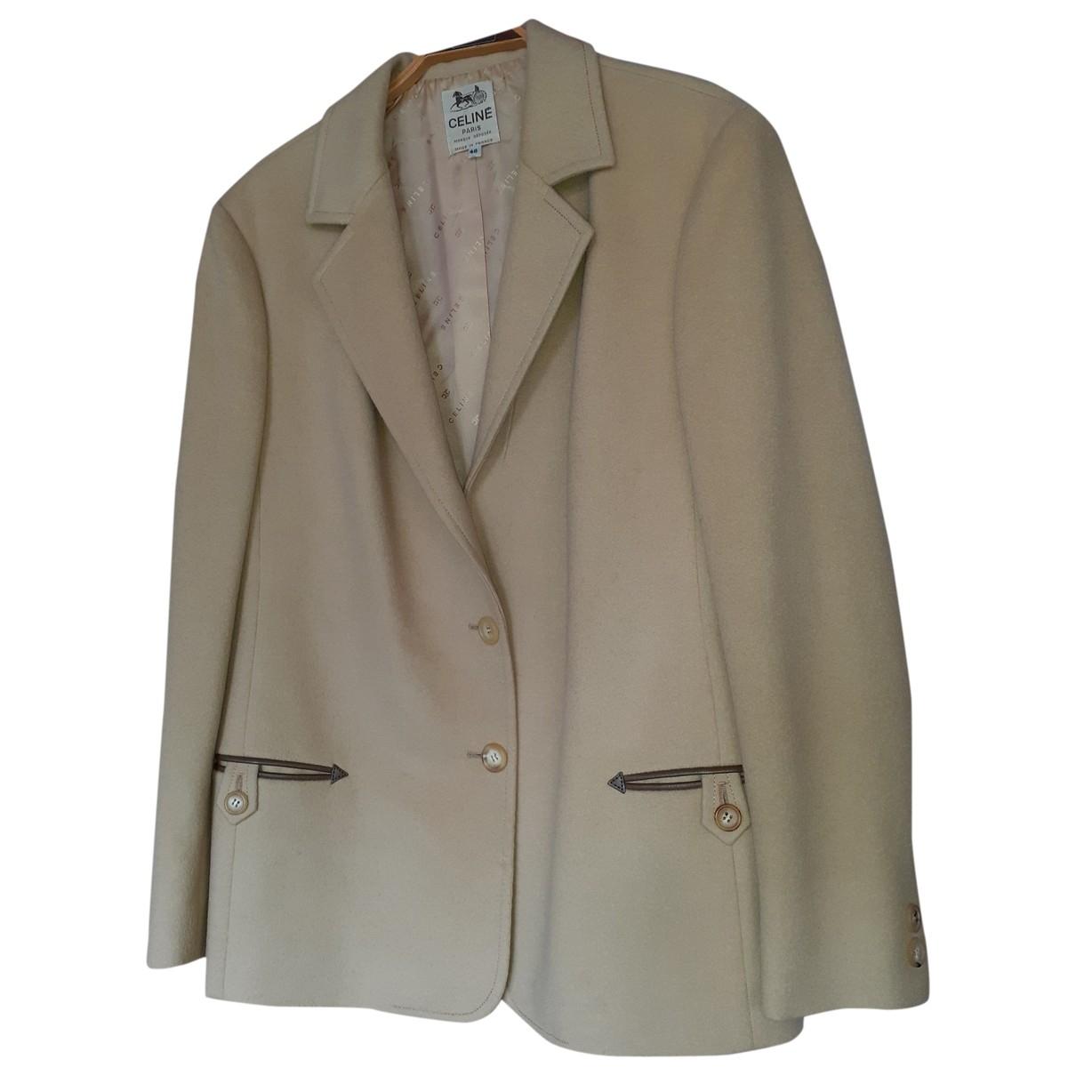 Celine - Veste   pour femme en laine - beige