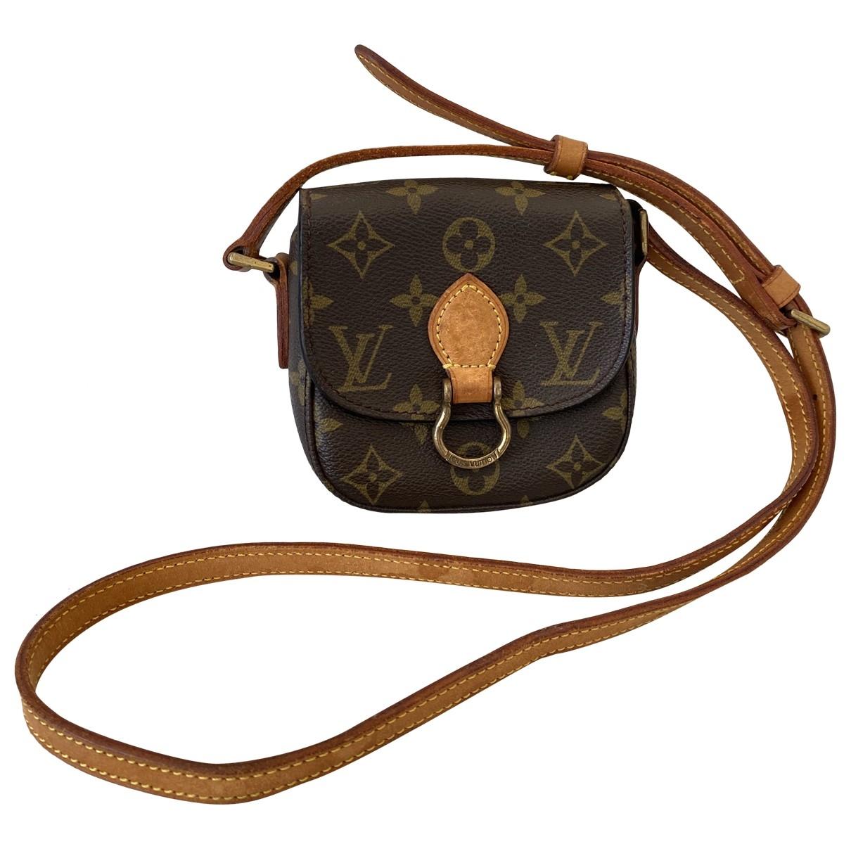 Louis Vuitton - Sac a main Saint Cloud vintage pour femme en toile - marron