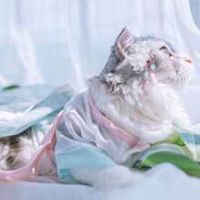1pc Chinese Style Cat Dress
