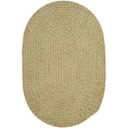 Colonial Mills South Point Reversible Braided Oval Rug, One Size , Green