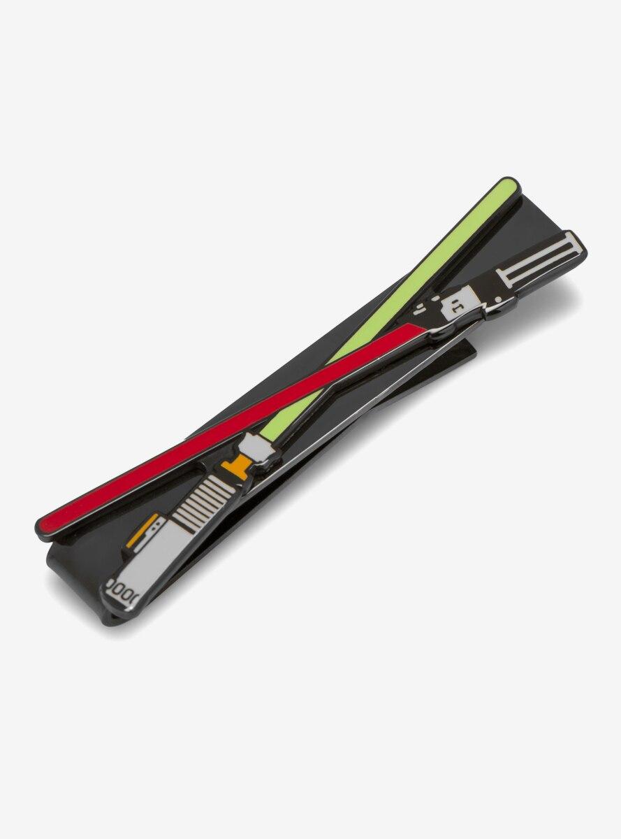 Star Wars Lightsaber Battle Black Tie Bar