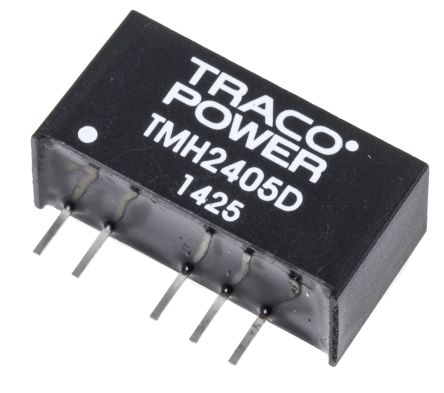 TRACOPOWER TMH 2W Isolated DC-DC Converter Through Hole, Voltage in 21.6 → 26.4 V dc, Voltage out ±5V dc