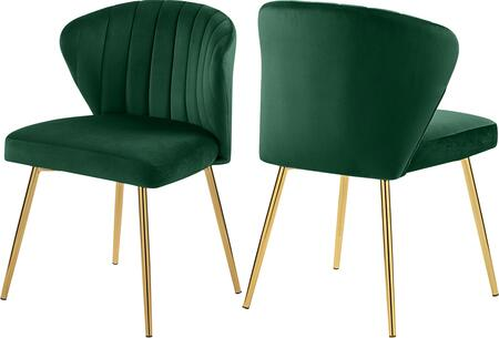 707GREEN Set of two Chairs Finley Green Velvet Dining