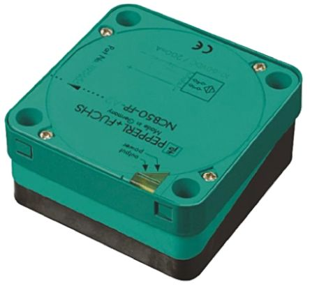 Pepperl + Fuchs Inductive Sensor - Block, PNP-NO Output, 50 mm Detection, IP68, M20 Gland Terminal