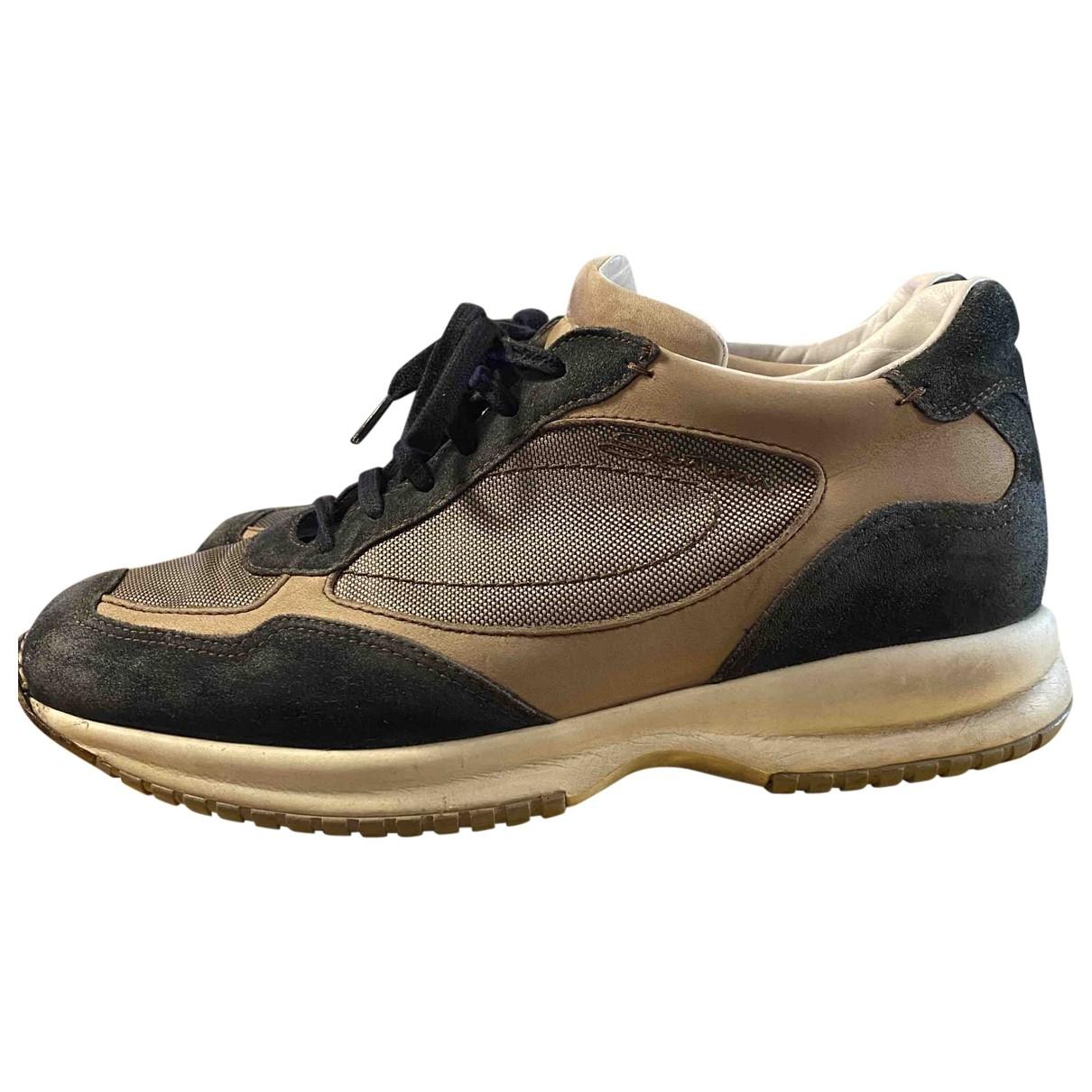 Santoni \N Sneakers in  Blau Veloursleder
