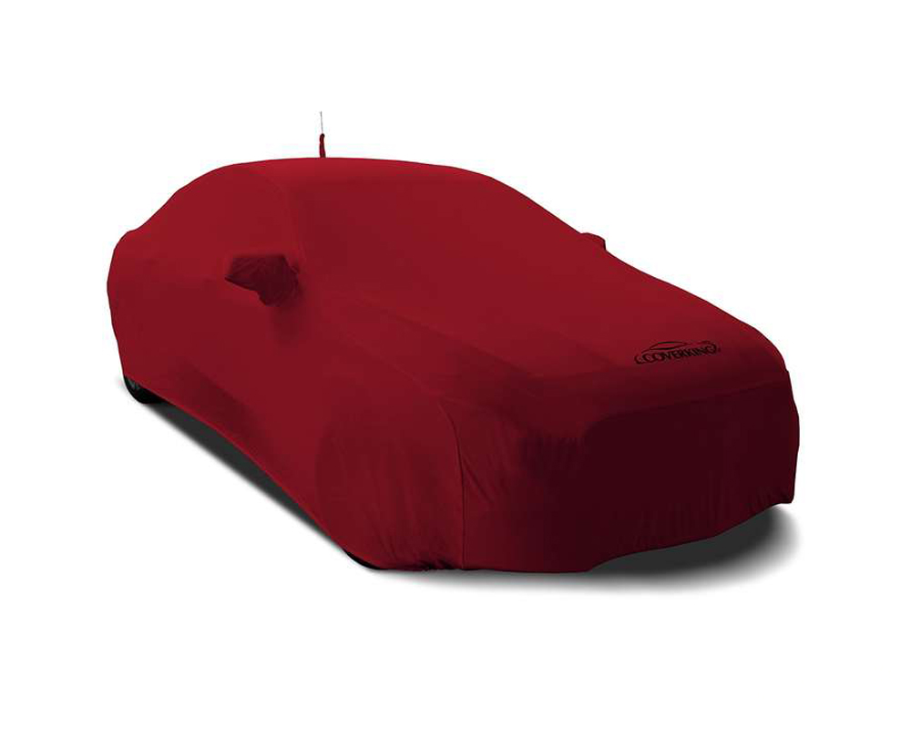 Coverking CVC3SS80FD10024 CVC3SS80 Satin Stretch Pure Red Custom Car Cover Ford Mustang 2018-2021