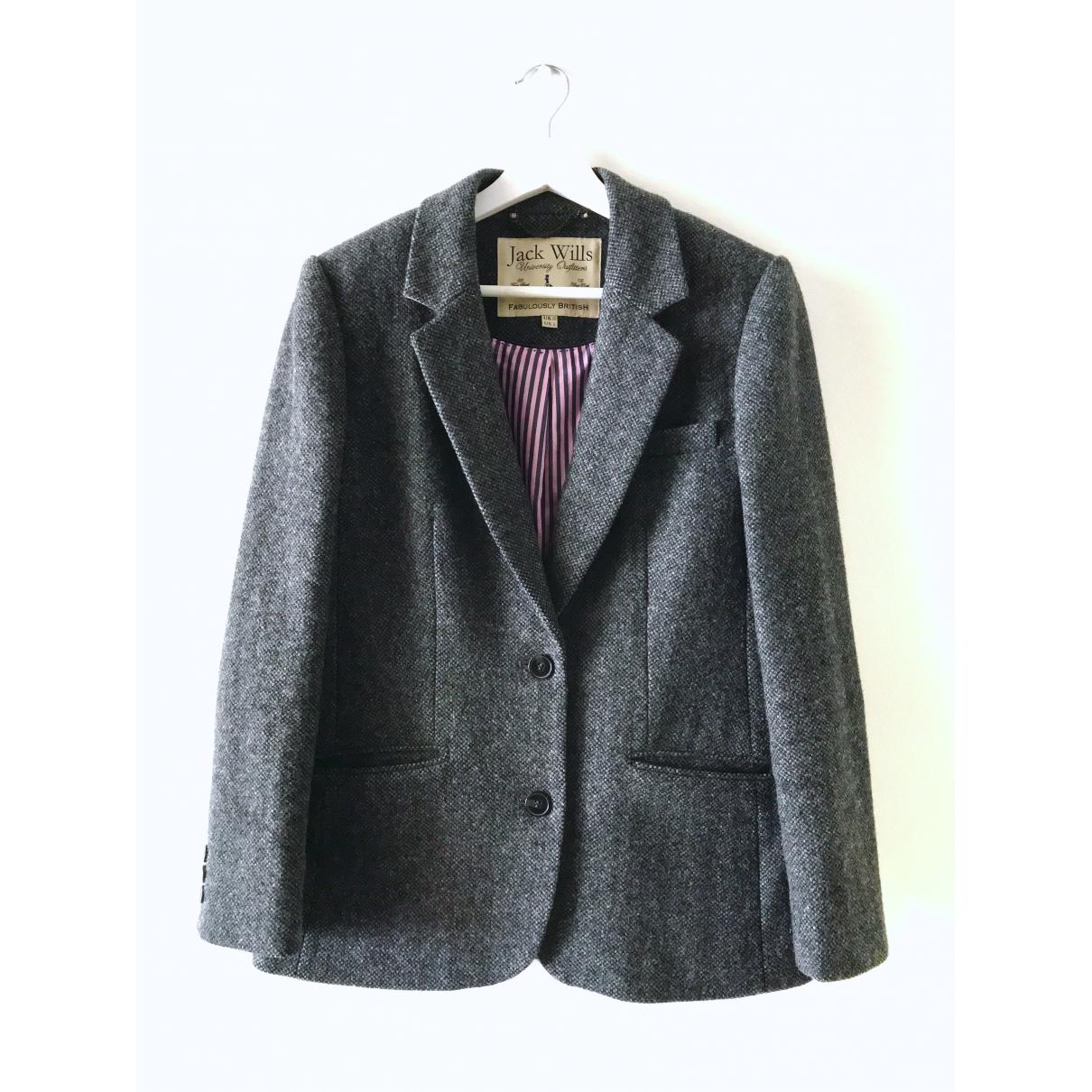 Jack Wills - Veste   pour femme en laine - gris