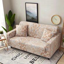 Dehnbarer Sofabezug mit Vintage Muster ohne Kissen
