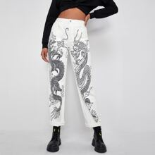 Chinese Dragon Straight Jeans