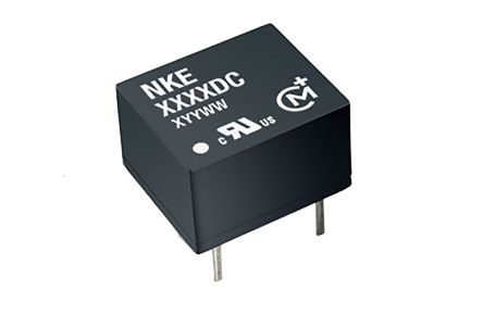 Murata Power Solutions NKE 1W Isolated DC-DC Converter Through Hole, Voltage in 10.8 → 13.2 V dc, Voltage out 5V