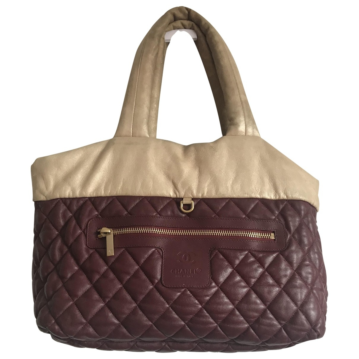 Chanel Coco Cocoon Burgundy Leather Travel bag for Women \N
