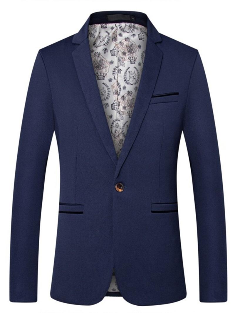 Ericdress Notched Lapel Slim Button Style Men's Blazers