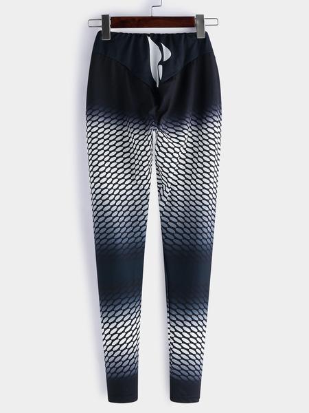 Yoins Fashion Random Printed Elastic Waist Gym Leggings