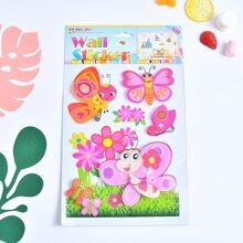 Kinder Wandaufkleber mit Schmetterling Muster