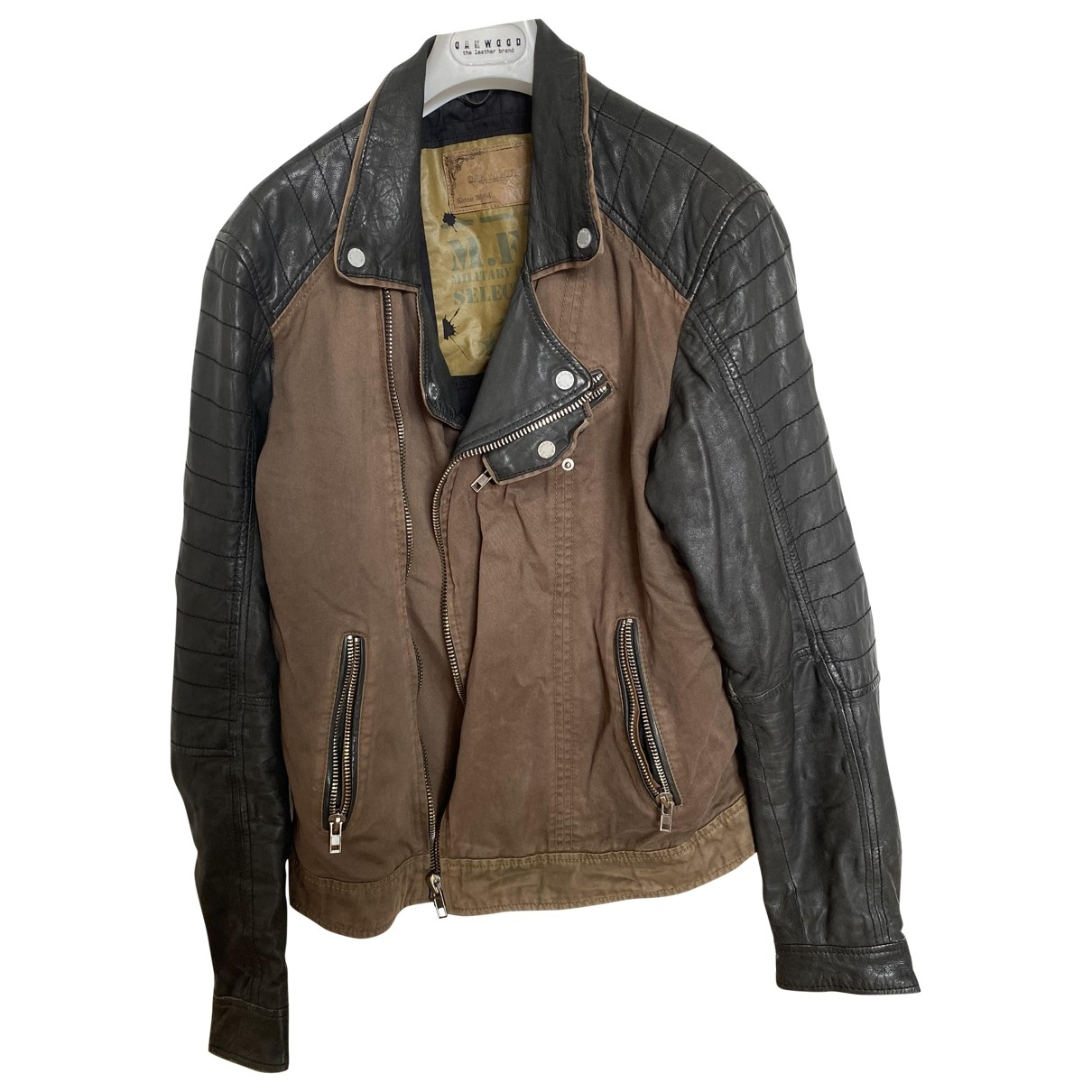 Oakwood \N Brown Leather jacket  for Men XL International