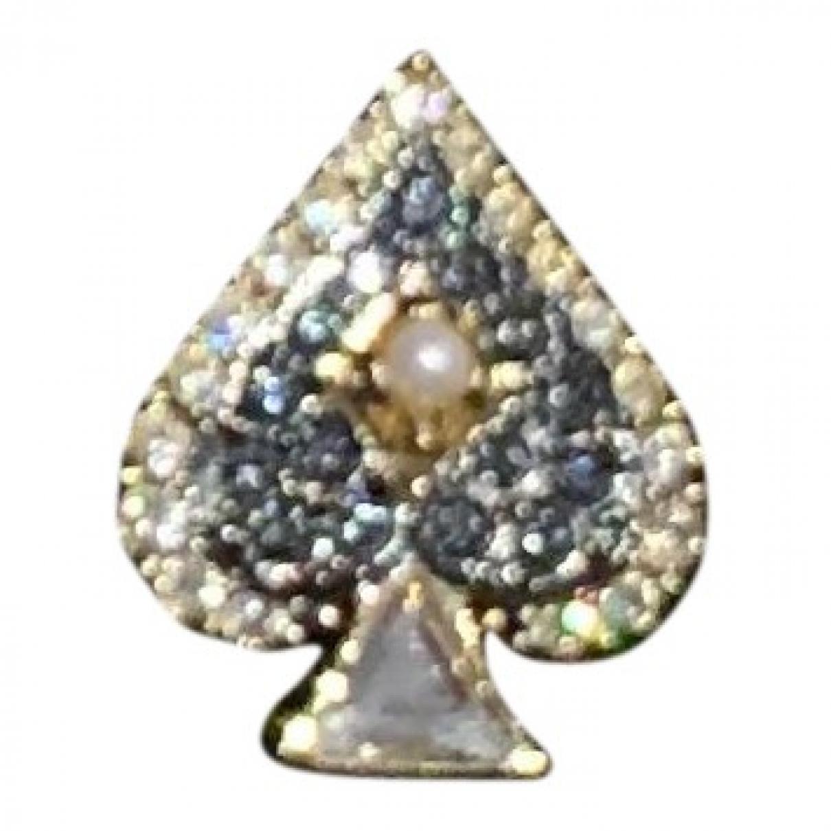 Swarovski \N Ring in  Blau Kristall