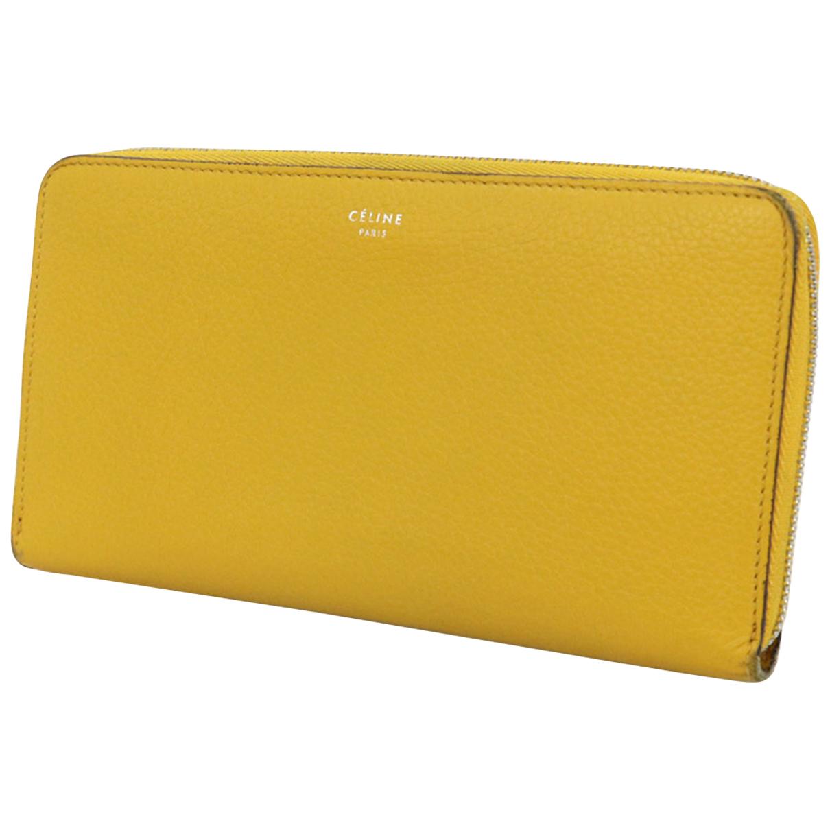 Celine N Yellow Leather wallet for Women N