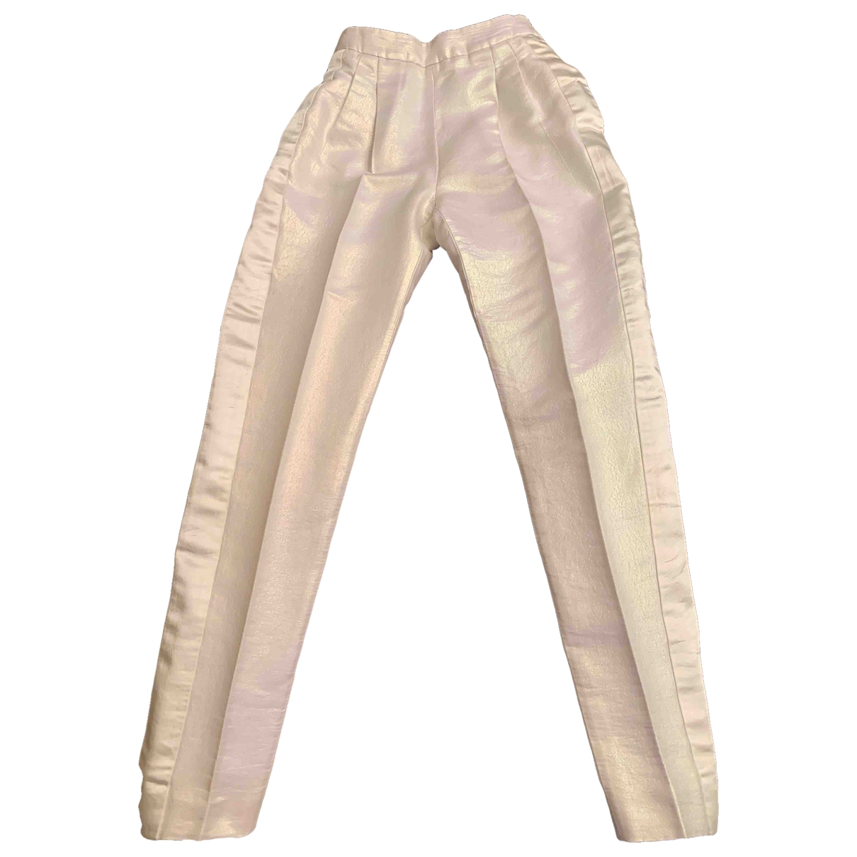 Moschino - Pantalon   pour femme en coton - blanc