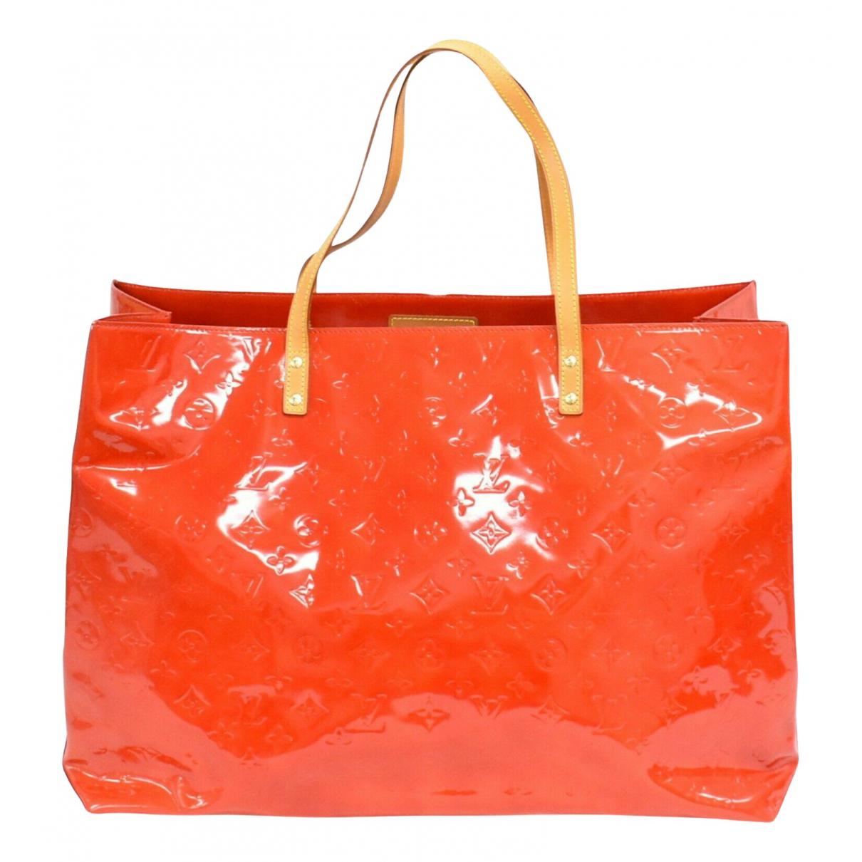 Louis Vuitton Reade Orange Patent leather handbag for Women N