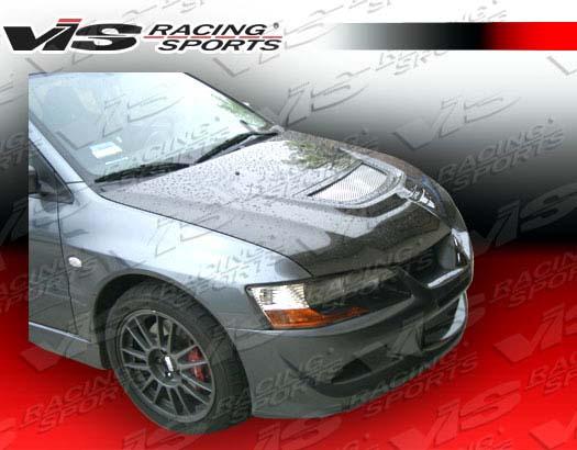 VIS Racing 03MTEV84DOE-010C Carbon Fiber OEM Hood Mitsubishi EVO IX 06-07