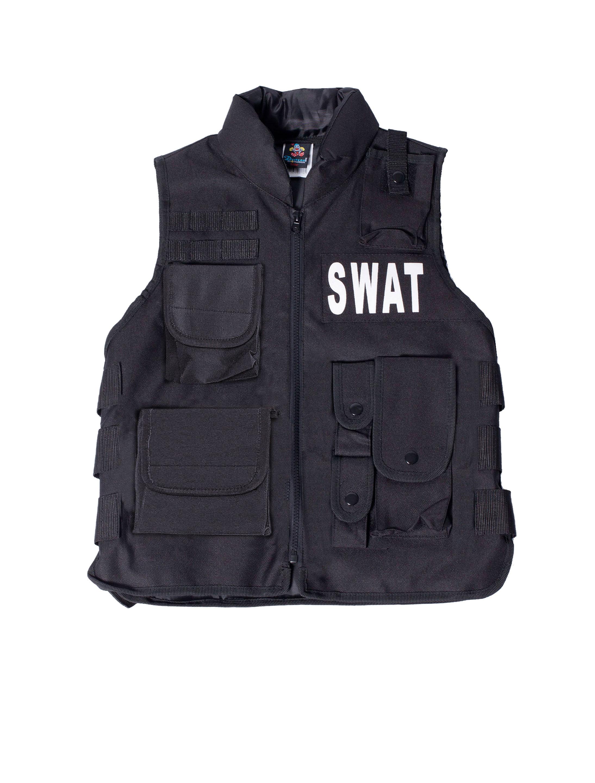 Herren-Kostuem Weste SWAT Herren Grosse: One Size Farbe: schwarz