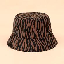 Zebra Striped Bucket Hat