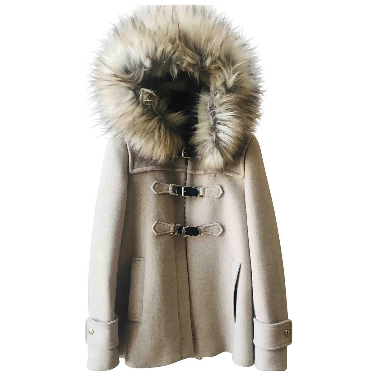 Zara \N Beige Wool coat for Women XS International