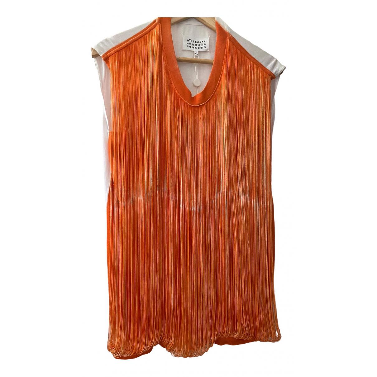 Maison Martin Margiela - Top   pour femme en coton - orange