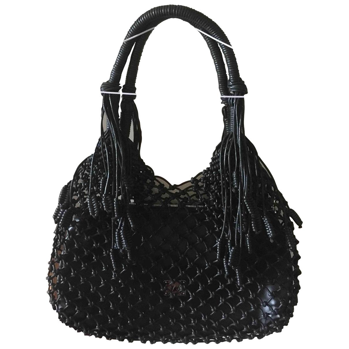 Non Signe / Unsigned \N Handtasche in  Schwarz Baumwolle