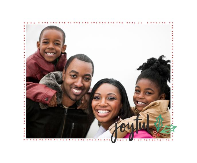 Holiday Framed Canvas Print, Chocolate, 16x20, Home Décor -Joyful Holly