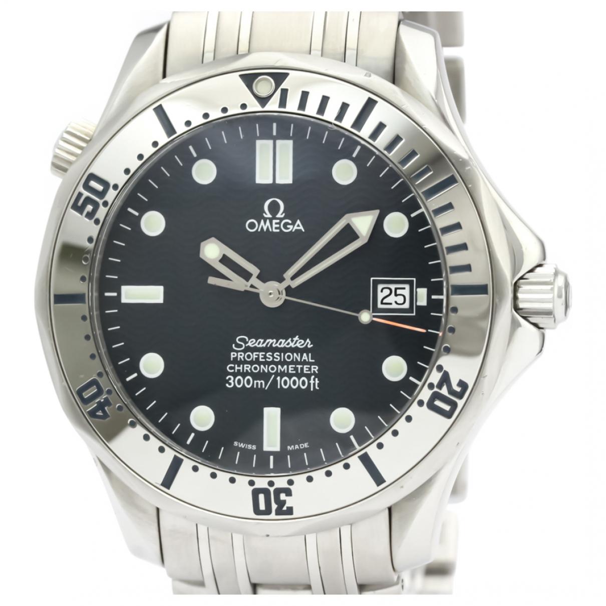 Omega Seamaster Uhr in  Blau Stahl