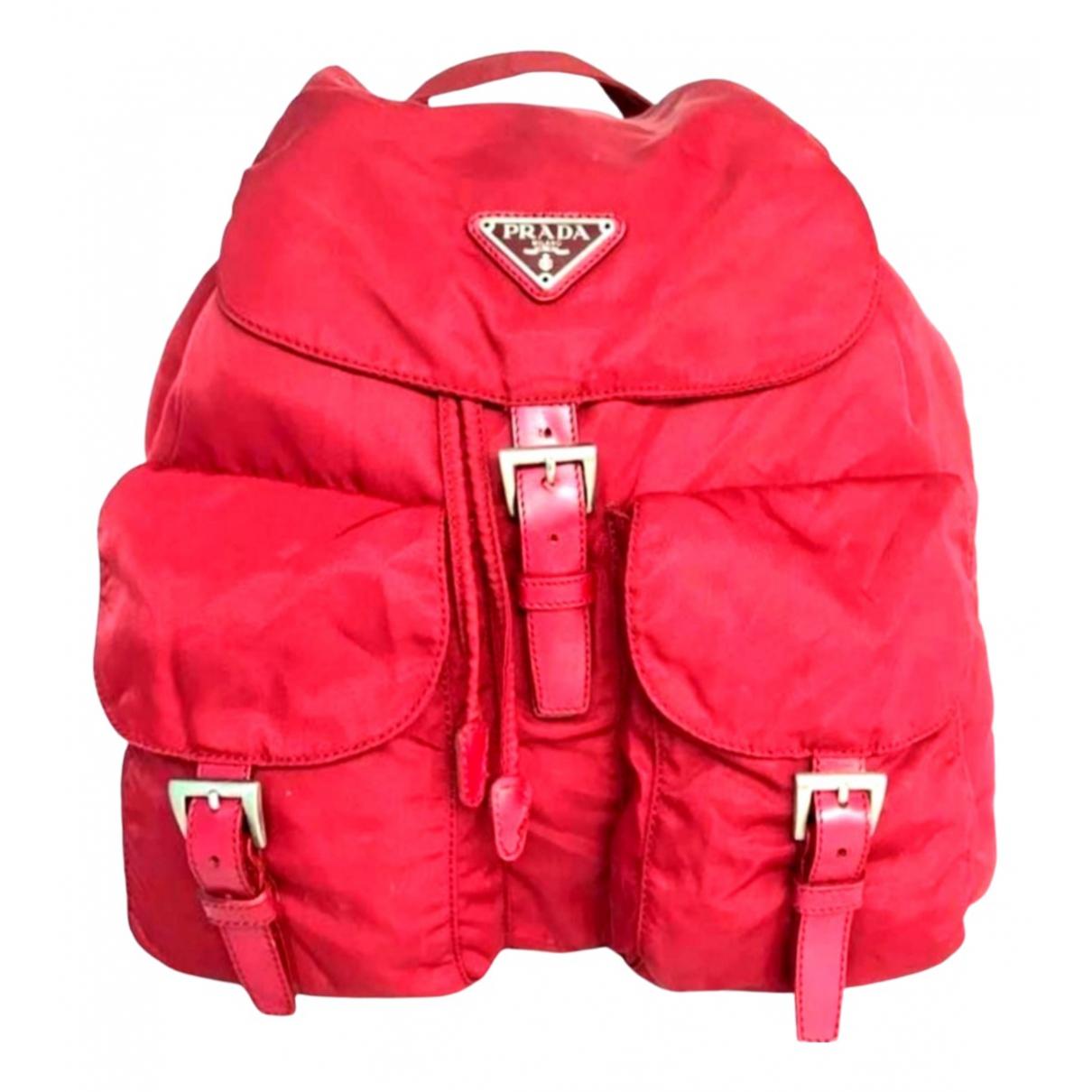 Prada \N Red Cloth backpack for Women \N