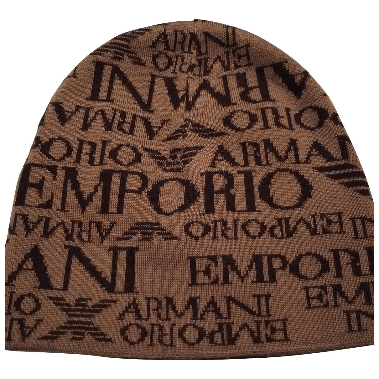Emporio Armani - Chapeau & Bonnets   pour homme en laine