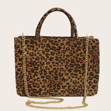 Tasche mit Leopard Muster