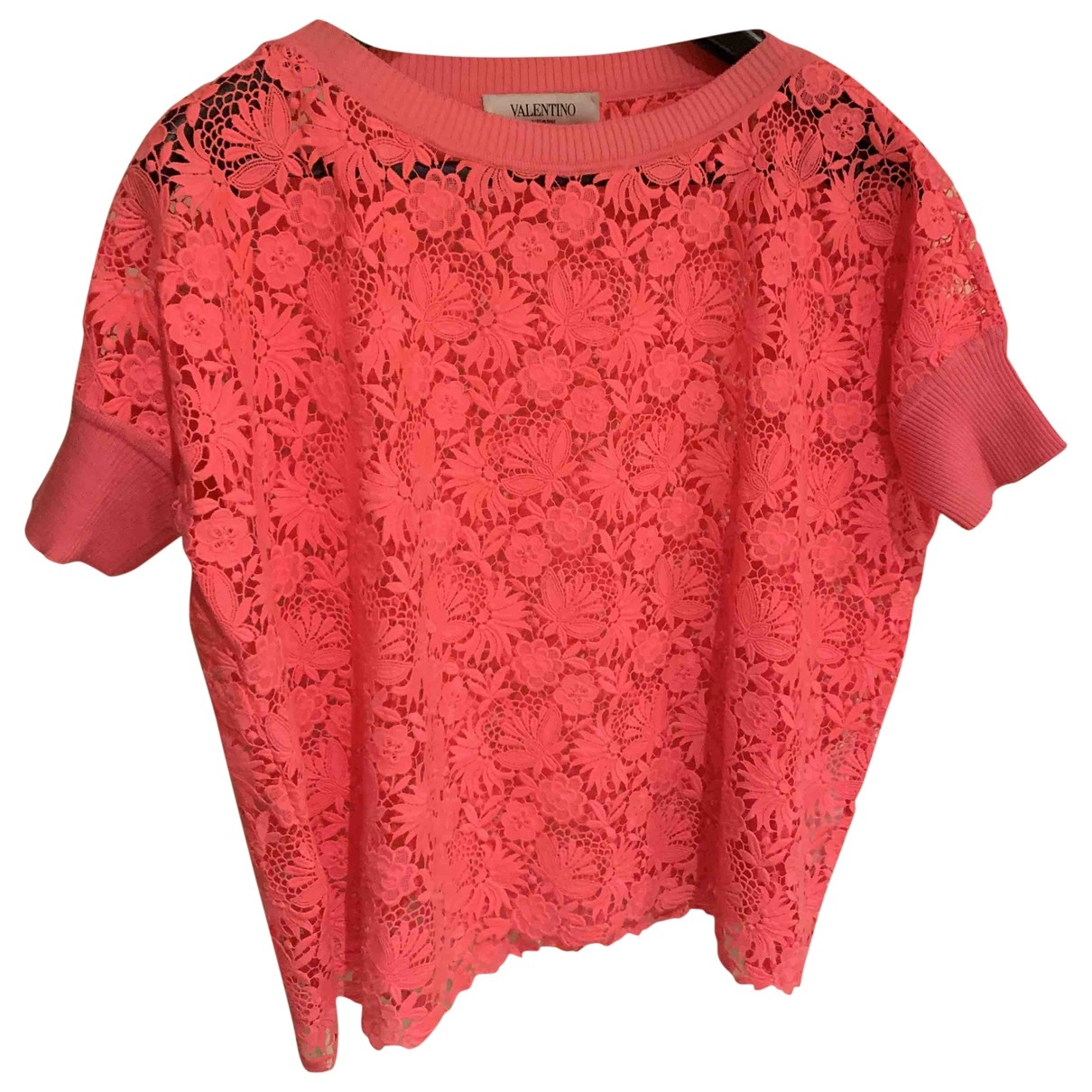 Valentino Garavani \N Pink Lace  top for Women M